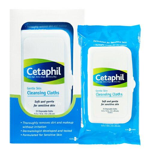 Cetaphil舒特膚溫和多效潔膚棉25片盒