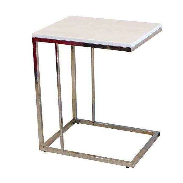 【尚品傢俱】625-29 珍珠白沙發邊几小桌架