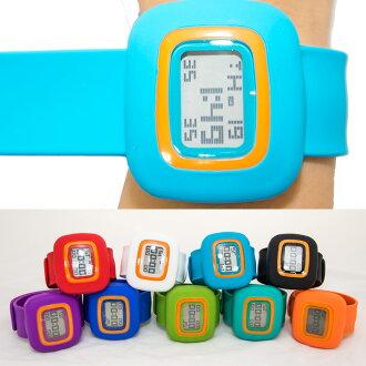 買一送一 馬卡龍一拍即戴!! 一拍二捲就OK 拍拍錶 卷尺錶 糖果色果凍錶 運動手錶 矽膠腕錶