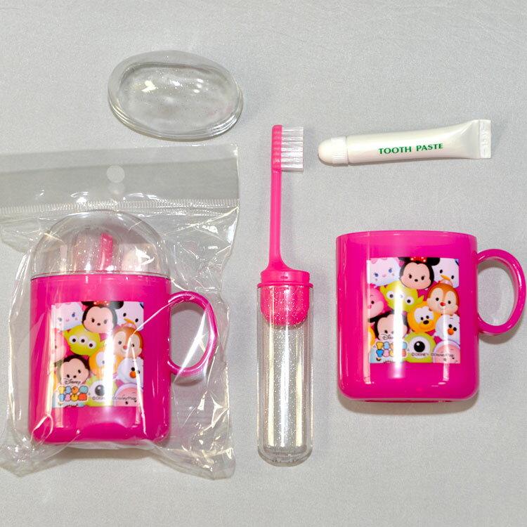 TSUM TSUM 牙刷 牙膏 口杯 旅行盥洗組 日本製 正版商品