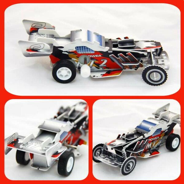 超級賽車可動發條式3D立體拼圖玩具