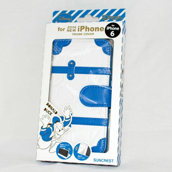 Apple iPhone 6 唐老鴨 迪士尼 磁性 手機殻+保護套 附卡夾及鏡子 日本限定