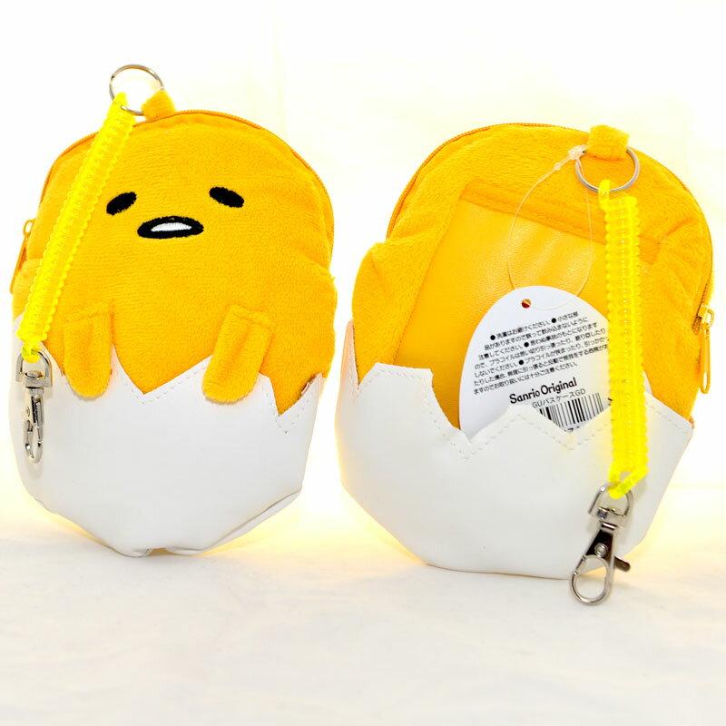 蛋黃哥 錢包 信用卡包  悠遊卡包 吊飾 日本帶回正版商品 大小約12x15cm 可掛在大包包上當吊飾, 或鑰匙扣 超療癒的蛋黃哥!
