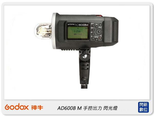 【銀行刷卡金+樂天點數回饋】GODOX 神牛 AD600B M 手控出力攜帶型 外拍閃光燈( AD600BM,公司貨)攝影燈 棚燈