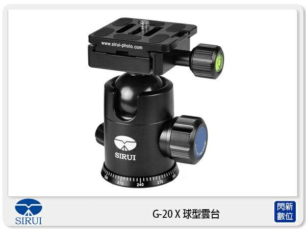 【銀行刷卡金+樂天點數回饋】Sirui 思銳 G-20X 球型雲台 通用型 G系列 TY-50 (G20X,立福公司貨)