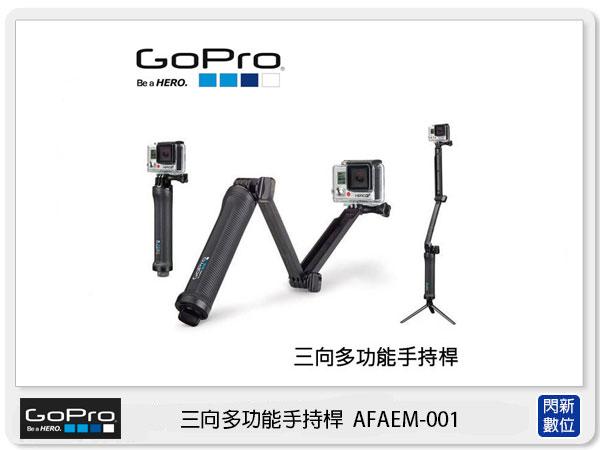 【分期0利率,免運費】GOPRO 三向多功能手持桿 AFAEM-001 (AFAEM,台閔公司貨)