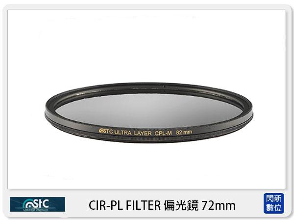 【分期0利率,免運費】送鏡頭蓋防丟夾~ STC CIR-PL FILTER 環形 偏光鏡  72mm (CPL 72,公司貨)