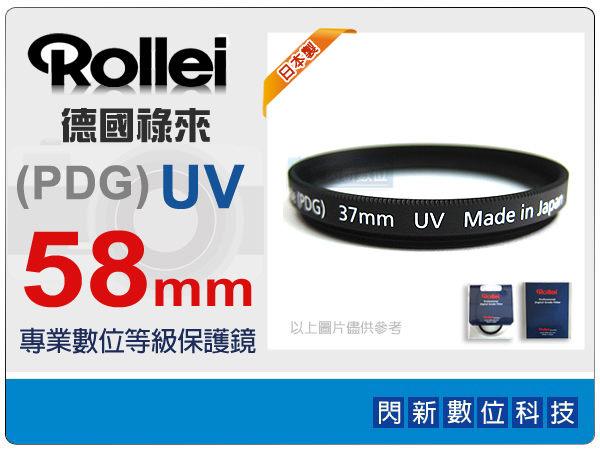 ~ 0利率 免 ~Rollei 德國祿來 Pro Digital Grade UV 58m