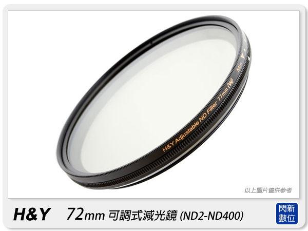 【分期0利率,免運費】H&Y ND2-ND400 72mm 可調式減光鏡 可調減光鏡 減光鏡 (72,附鏡頭蓋)