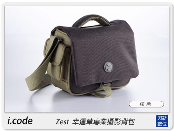 【分期0利率,免運費】i.code ZEST M 幸運草 專業單肩攝影背包 相機包 相機袋 肩背包 背包,棕色 icode
