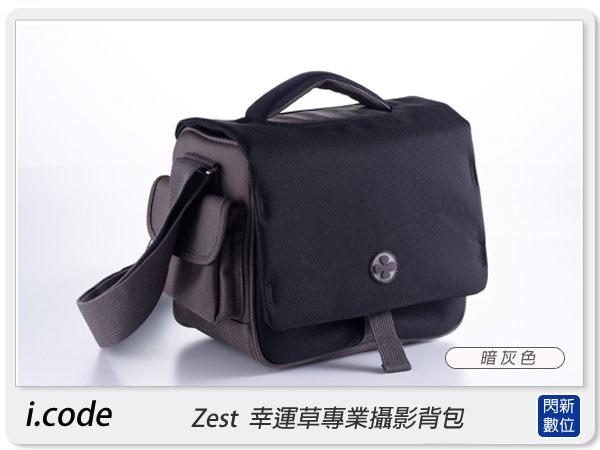 【分期0利率,免運費】i.code ZEST M 幸運草 專業單肩攝影背包 相機包 相機袋 肩背包 背包,暗灰色 icode