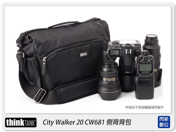 【分期0利率,優惠券折扣】 thinkTank 創意坦克 CityWalker 20 都會旅行者 黑色(CW681) 可放平板(彩宣公司貨)