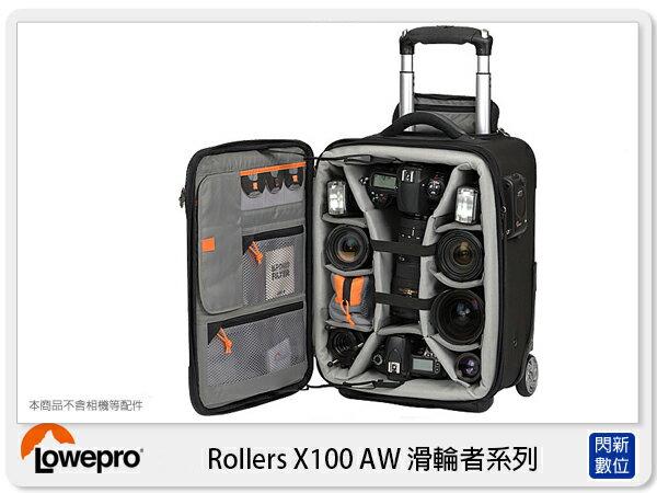 【分期0利率,免運費】新款! LOWEPRO 羅普 Pro Roller x100 AW 滑輪 行李箱 雙肩後背 (公司貨)