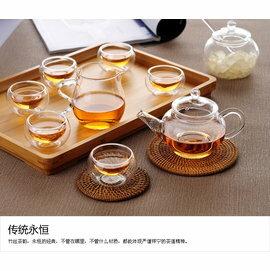 ~自在坊~六人泡茶壺 ^(容量250ml^) 玻璃花茶茶壺 玻璃壺 耐熱玻璃茶具 ~  好