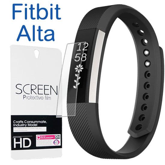 【保護貼】Fitbit Alta 時尚健身手環螢幕保護貼/運動智慧手錶軟性防爆膜/強化防刮保護膜/2pcs-ZW