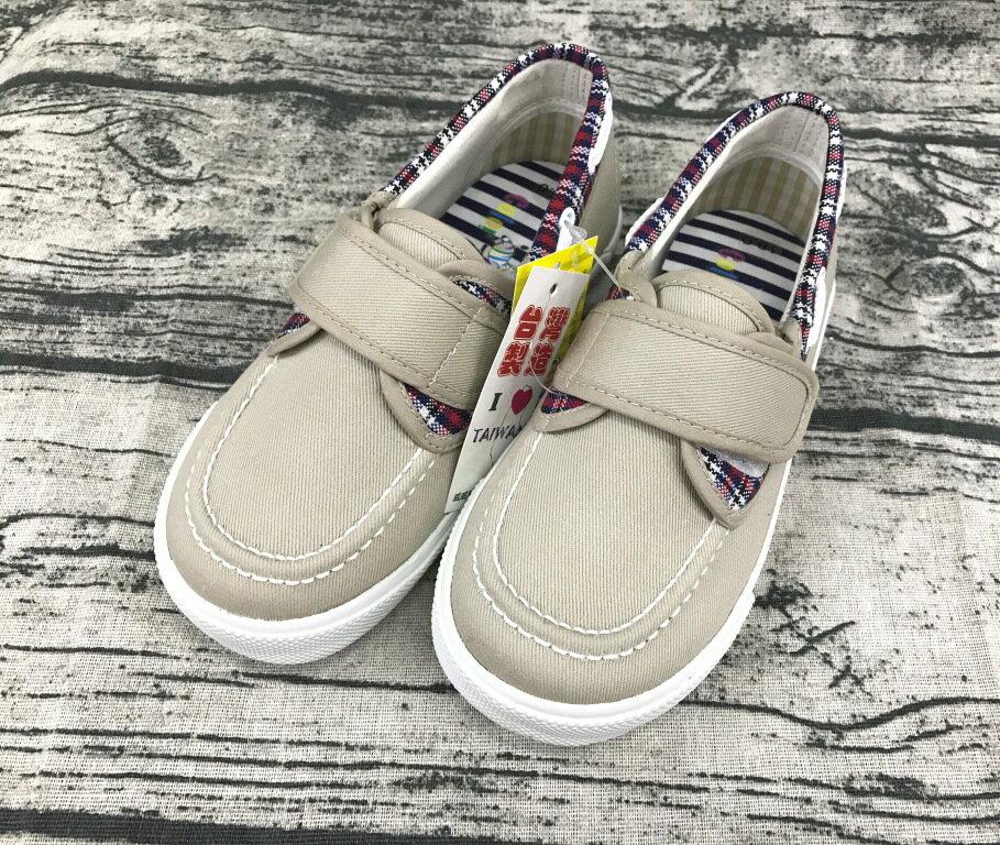 【零碼出清-18號】Color Zebra 童款魔鬼氈休閒帆布鞋 [2153] 卡其 MIT台灣製造 超值價$198