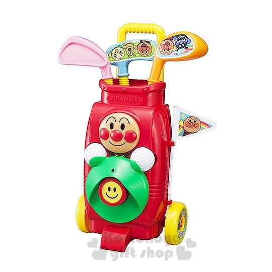 〔小禮堂嬰幼館〕麵包超人 高爾夫球玩具組《紅.3球桿.2顆球》健康運動性質玩具