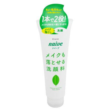 【敵富朗超巿】KRACIE葵緹亞NAIVE娜艾菩植物雙效洗面乳-茶葉200g