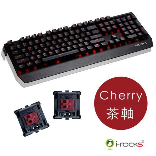 i-Rocks艾芮克K60Mcherry茶軸+IRM09鍵盤滑鼠組2年保固全背光鋁合金機械式電競鍵盤K60M【迪特軍3C】