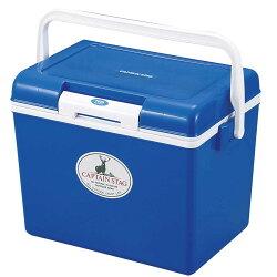【【蘋果戶外】】Captain Stag M-8177 25L野餐輕便冰桶 日本鹿牌 行動冰箱/保鮮桶/保冷保冰 附背帶、可手提攜帶 藍色