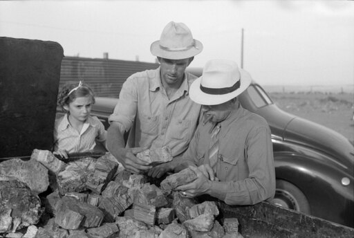 Petrified Forest Tourism Na Tourist Buying A Piece Of Petrified Wood Near The Petrified Forest National Park Arizona Photograph By Russell Lee August 1939 Poster Print by (24 x 36) 0173c77fe80ad94ceb99c1f7687ff18d
