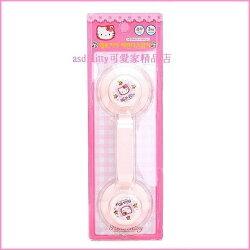 衛浴【asdfkitty可愛家】KITTY亮草莓玻璃門把手/吸盤掛鉤-強力吸盤免施工-韓國製