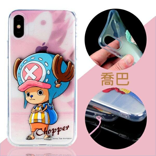 【航海王】iPhoneXSX(5.8吋)人物系列彩繪透明保護軟套(喬巴)
