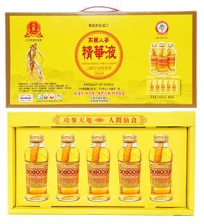 金蔘 高麗人蔘精華液 120ml*5入/盒 禮盒組◆德瑞健康家◆