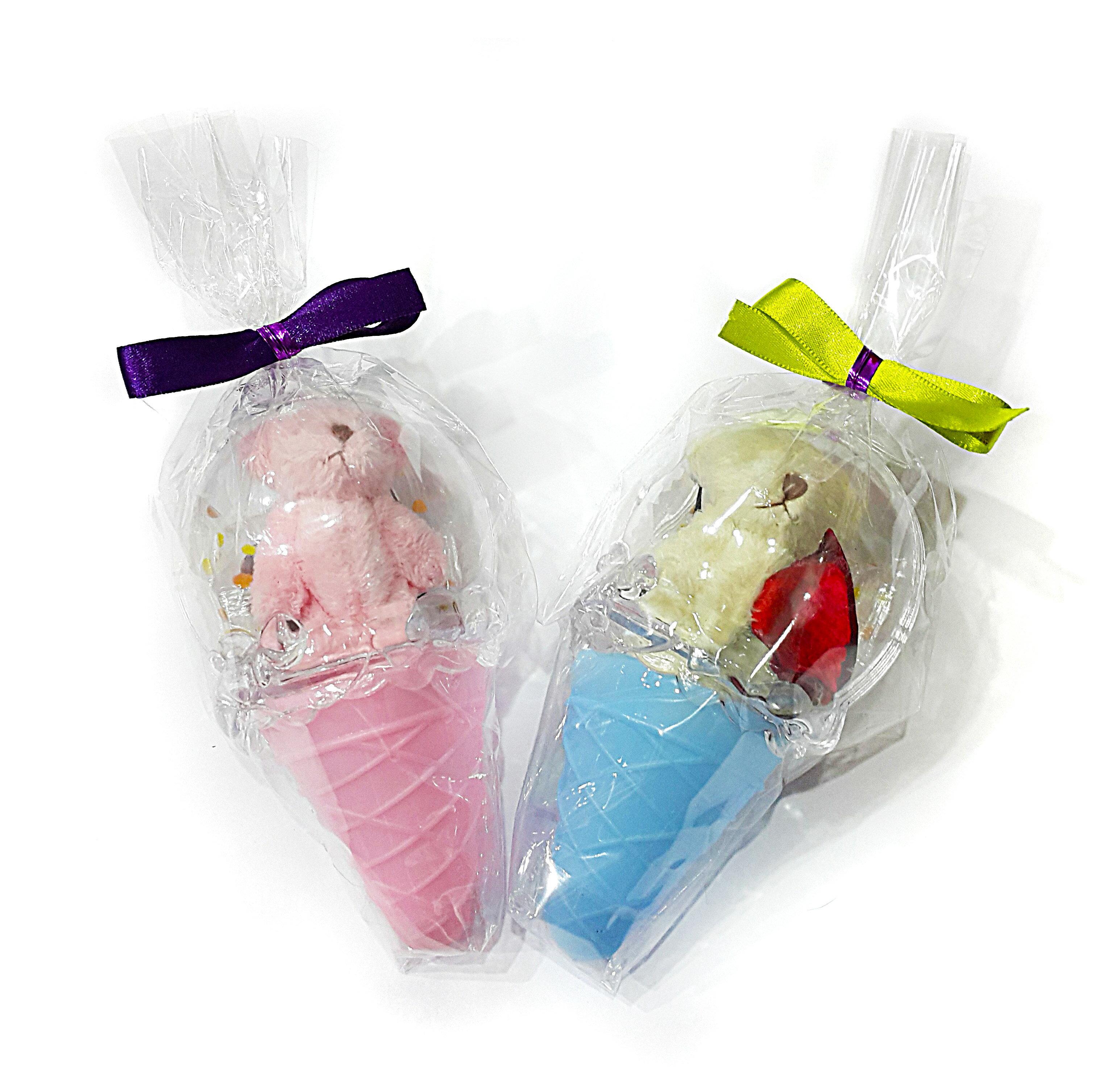 X射線【Y040008】冰淇淋甜筒娃娃組(不挑色),糖果襪/糖果罐/聖誕節/交換禮物/婚禮小物/兒童節/禮物/