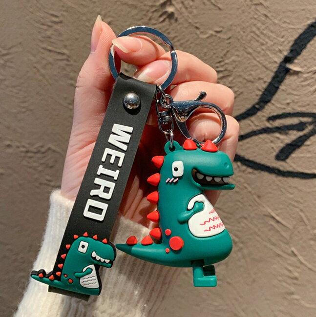 可愛小恐龍玩偶公仔鑰匙掛件網紅鑰匙扣男女韓國創意個性書包掛飾