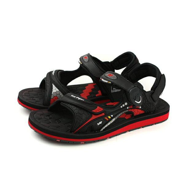 GP(Gold.Pigon)阿亮代言涼鞋防水雨天黑紅男鞋G8667M-14no848