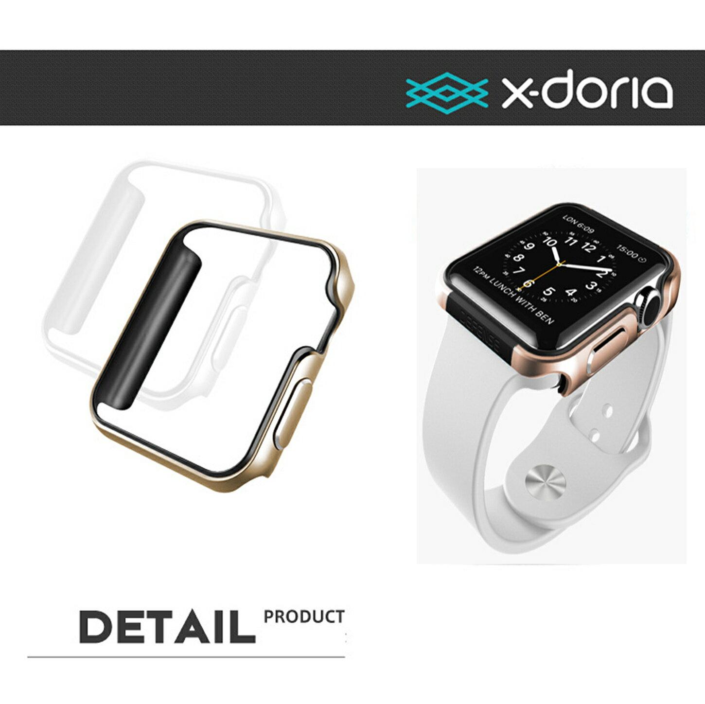 【當日出貨】X-Doria Defense Edge Apple Watch 金屬保護殼 手錶保護套 金屬邊框 買再送 apple watch 鋼化貼 ROCK-MOOD