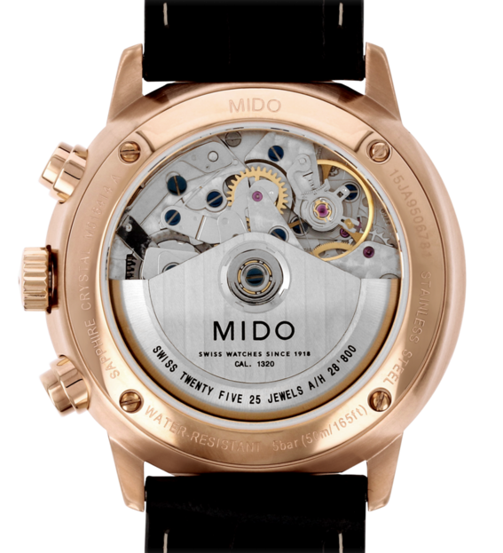 MIDO 美度  Commander 指揮官系列機械腕錶  M0164143603159 銀 玫塊金 黑 42mm 1