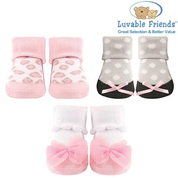美國 Hudson Baby/Luvable Friends 嬰幼用品 寶寶造型襪 0-9M (3件組) - 粉色豹紋