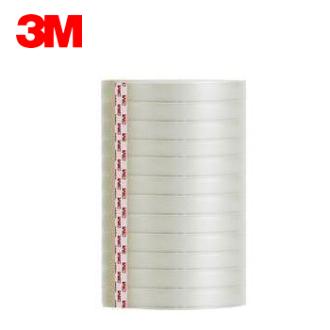 3M 透明膠帶 ( 12mm x 40y ) #502-12PK 筒裝OPP膠帶