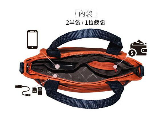 ★CORRE【CG71074】帆布印刷條紋手提斜背包 ★ 藍色 / 紅色 / 橘色 共三色 5