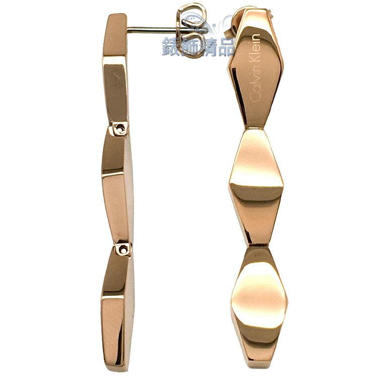 【錶飾精品】Calvin Klein 飾品 ck耳環-玫金316L白鋼 KJ5DPE100100 全新原廠正品 情人禮品