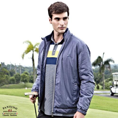 【FANTINO】男裝 保暖首選鋪棉外套(大尺碼) (藍) 345306
