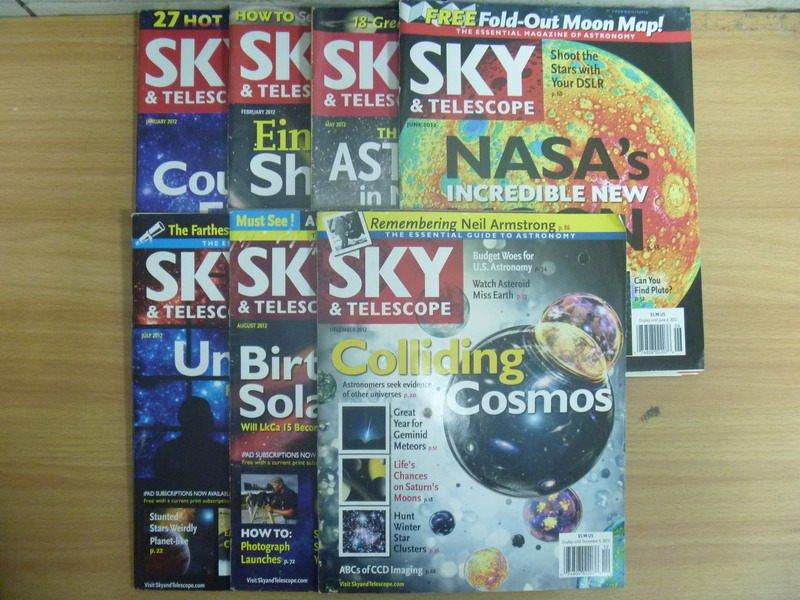 【書寶二手書T9/雜誌期刊_RDH】SKY&Telescope_2012/1~12月間_7本合售_NASAs等