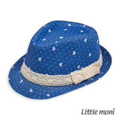 Little moni 愛心印圖紳士帽 (道奇藍)(好窩生活節) 0