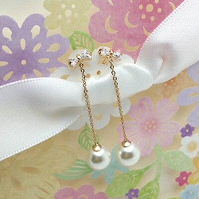 ~玫瑰金耳環925純銀鑲鑽耳飾~精緻流蘇蝴蝶結情人節生日 女飾品2色73gs138~ ~~