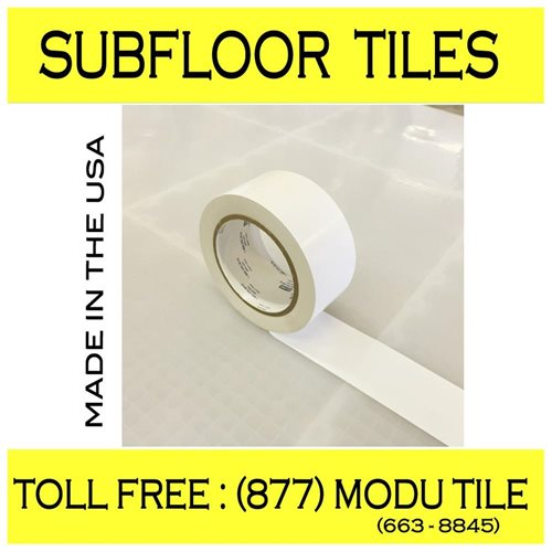 BlockTile: Subfloor Underlayment Interlocking Tiles - 27 sq  ft