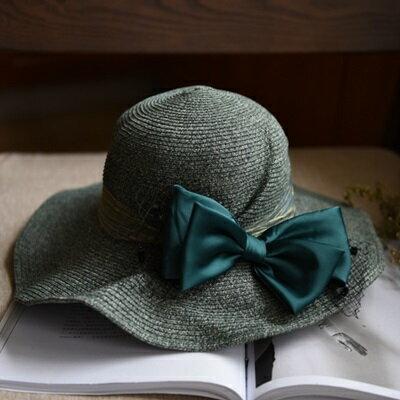草帽手工編織漁夫帽-夏季戶外時尚優雅女遮陽帽3色73si6【獨家進口】【米蘭精品】
