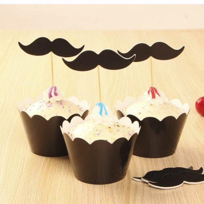 =優生活=烘焙包裝紙杯蛋糕 蛋糕裝飾 插牌圍邊+插牌裝飾 派對用品 兒童生日 彌月蛋糕 收綖蛋糕【翹鬍子】
