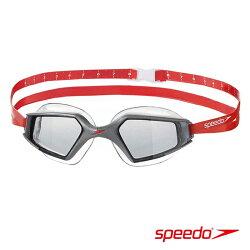 ║speedo║成人進階泳鏡Aquapulse Max 2鏡面-銀灰