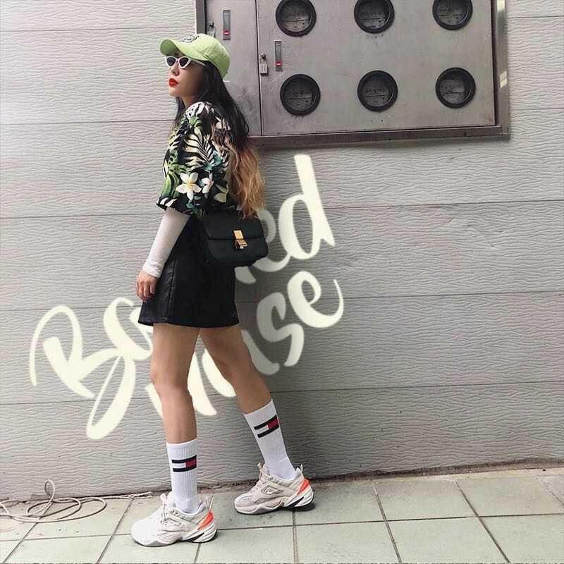【日本海外代購】Nike Monarch M2K Tekno 復古 老爹鞋 皮革 白灰 厚底 增高 男女 AO3108-001