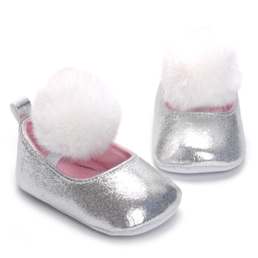 fcd762e3c5e1d Baby Newborn Toddler Girl Crib Shoes Pram Soft Sole Prewalker Anti-slip  Sneakers