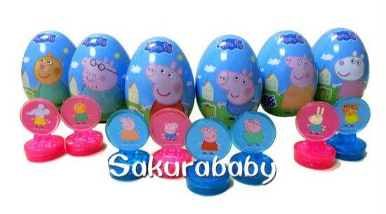 Peppa佩佩豬 粉紅豬小妹 驚奇蛋 佩佩豬印章 水果軟糖 果汁軟糖 小朋友獎勵 小禮物 _櫻花寶寶