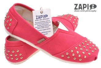 ZAPI 西班牙時尚品牌 (女) 時尚 甜美 個性 舒適 懶人鞋 休閒鞋 - SD314906 鉚釘桃紅 【陽光樂活】