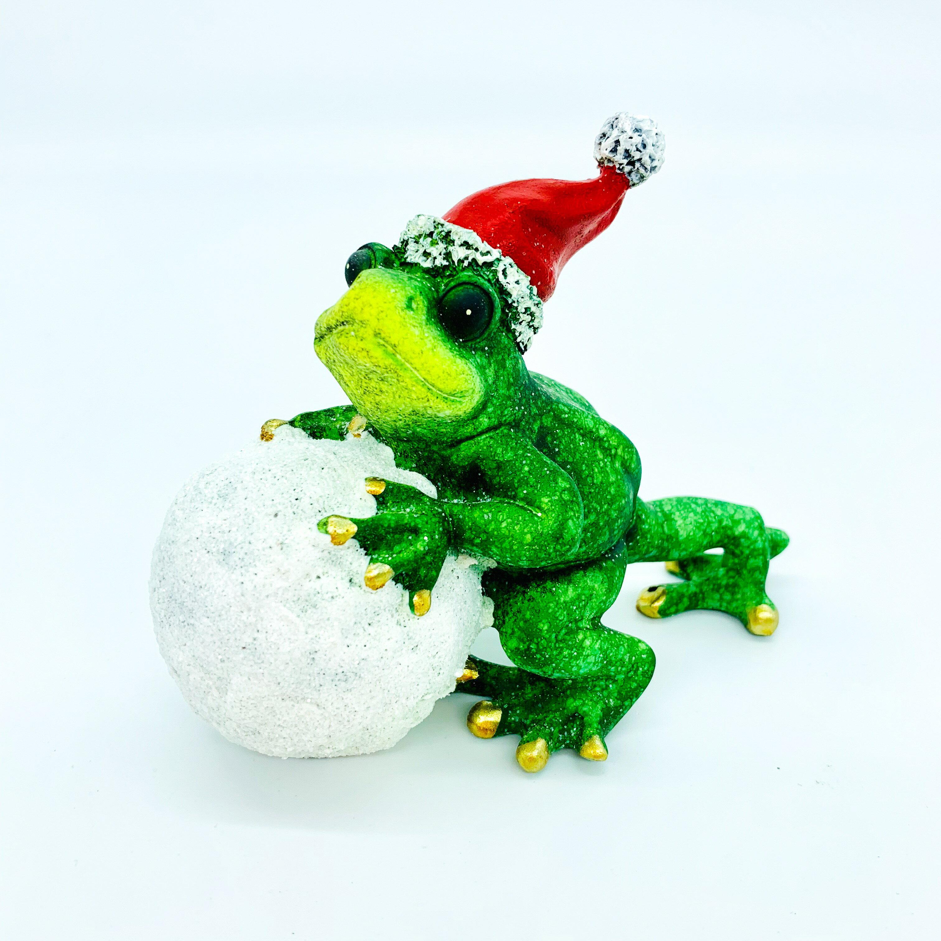 日本高山 聖誕運動 青蛙 擺飾 5 日本直送 幸運 平安 開運 1